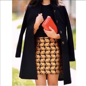 J. Crew Gold and Black Elephant Parade Skirt